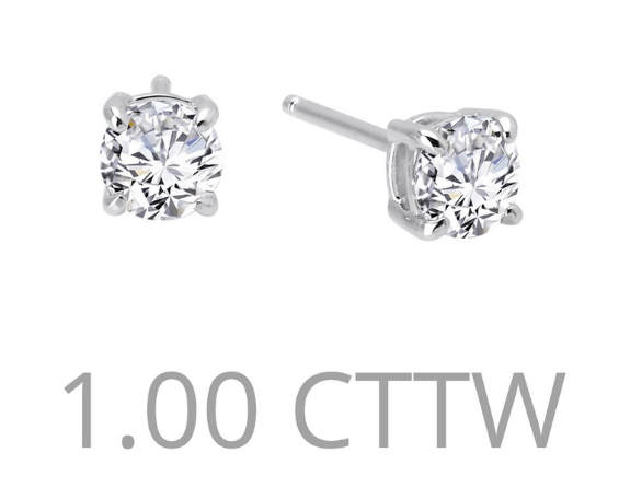 1 cttw Simulated Diamond Post Earrings