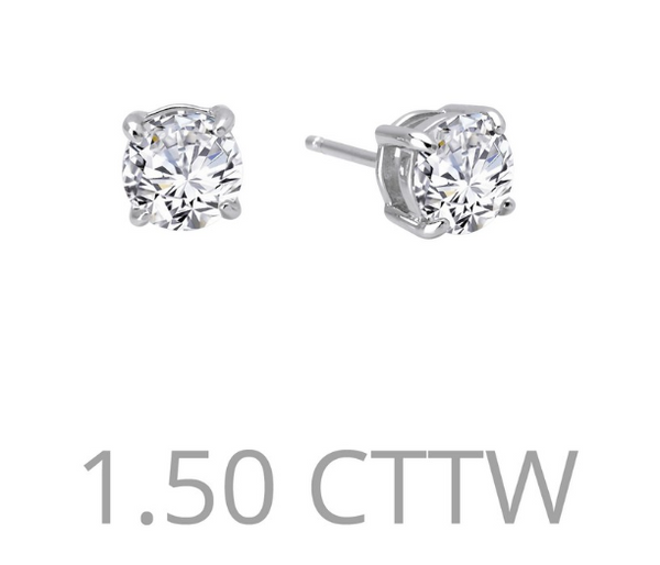 1.5 cttw Simulated Diamond Post Earrings - Jewelry Works