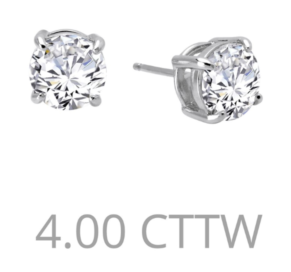 4 cttw Simulated Diamond Post Earrings