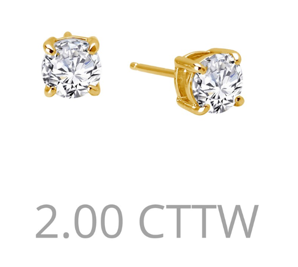 2 cttw Simulated Diamond Post Earrings