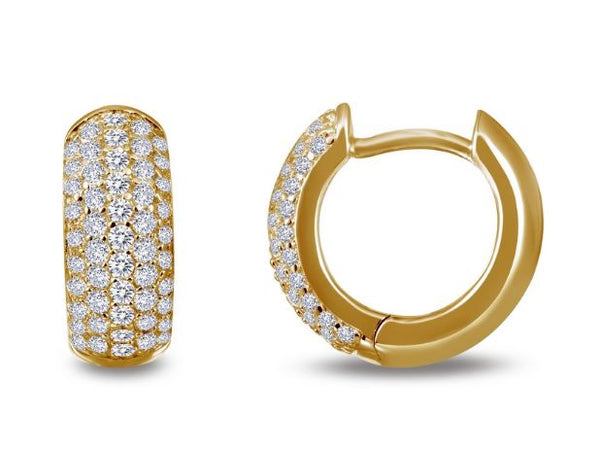 Simulated Diamond Wide Huggie Hoop Earrings E0200CLG