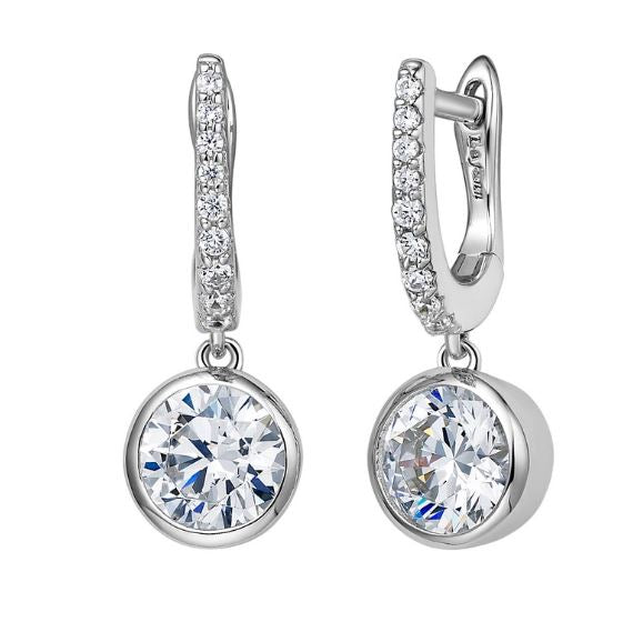 Simulated Diamond Huggie Drop Earrings E0237CLP