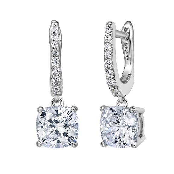 Simulated Diamond Huggie Drop Earrings E0238CLP
