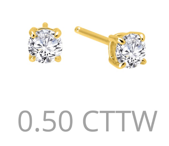 .5 cttw Simulated Diamond Post Earrings