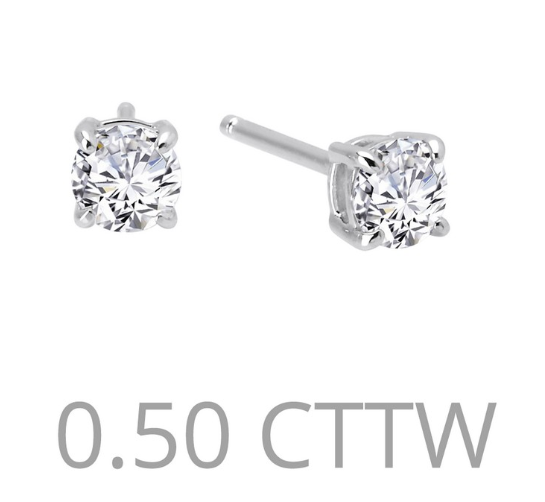 .5 cttw Simulated Diamond Post Earrings - Jewelry Works