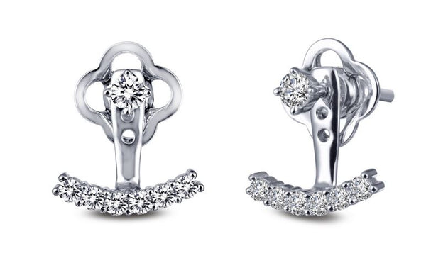 Simulated Diamond Ear Climber Earrings E0247CLP