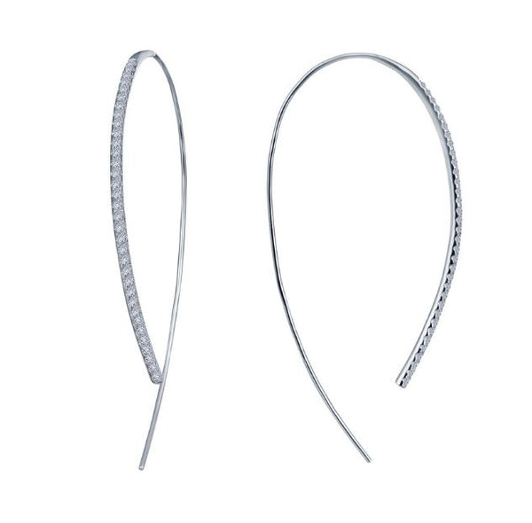 Simulated Diamond Large Open Hoop Earrings E0263CLP