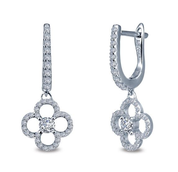 Simulated Diamond Clover Earrings E0274CLP - Jewelry Works