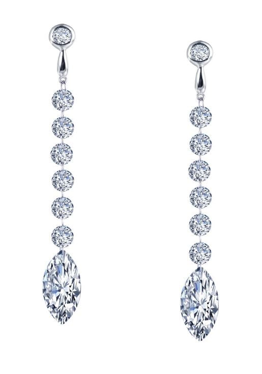 Seven Drop Marquise Earrings E0280CLP - Jewelry Works