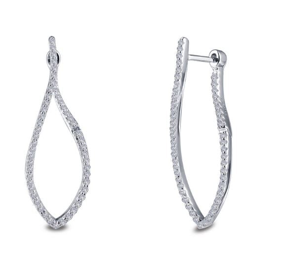 Infinity Hoop Earrings E0304CLP - Jewelry Works