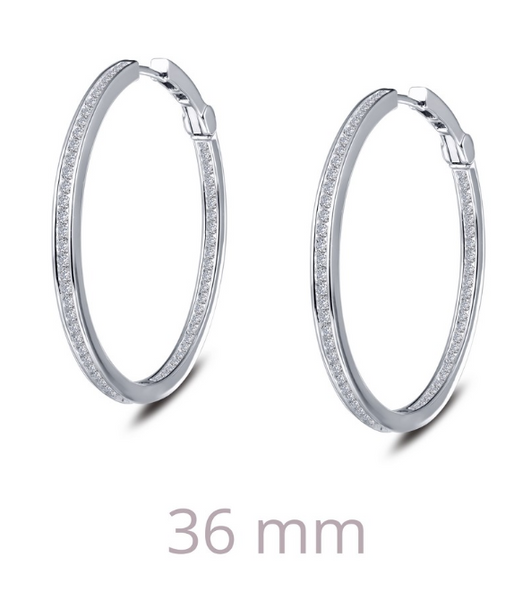 36mm Channel Hoop Earrings E0309CLP - Jewelry Works