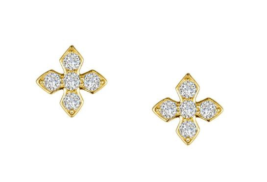 Simulated Diamond Cross Earrings E0375CLT