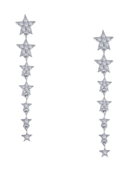 Stars Simulated Diamond Earrings E0392CLP - Jewelry Works