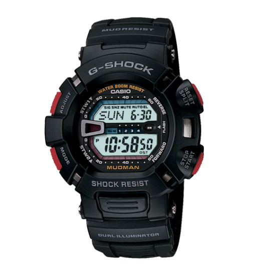 Casio G-Shock G9000-1VCR Mudman Black and Red Men's Watch - Jewelry Works