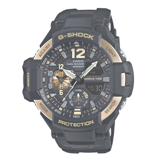 Casio G-Shock GRAVITYMASTER GA1100-9G Gold and Black Men's Watch - Jewelry Works