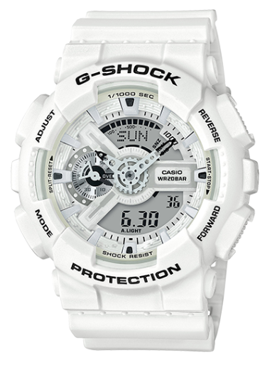 Casio G-Shock GA110MW-7A White Resin Men's Watch - Jewelry Works