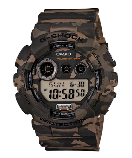 Casio G-Shock GD120CM-5 Camouflage Resin Men's Watch - Jewelry Works