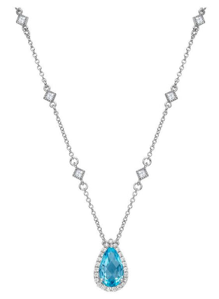 GN001BTP Topaz Pear Necklace - Jewelry Works