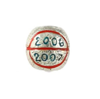 Gator Bead 2006-2007 Enameled Sterling Silver Basketball Championship - Jewelry Works