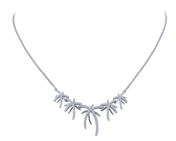 N0044CLP Palm Tree Necklace - Jewelry Works