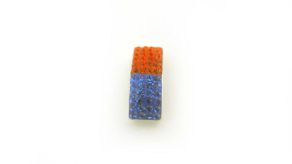 Orange and Blue 4-Row Crystal Slide Pendant - Jewelry Works