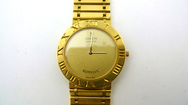 18K Yellow Gold Corum Wrist Watch with Original Paperwork