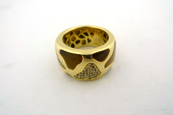 18K Yellow Gold Alberto Coin Giraffe Ring