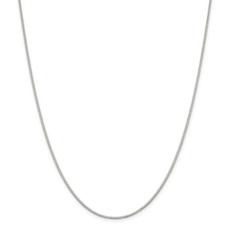 Sterling Silver Rhodium-Plated 1.10mm Box Chain