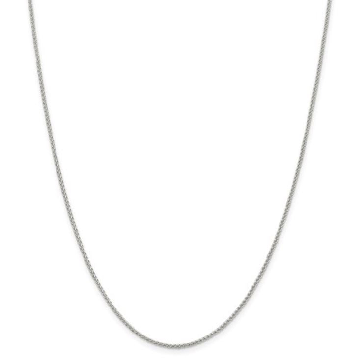 Sterling Silver 1.50mm Round Spiga Chain