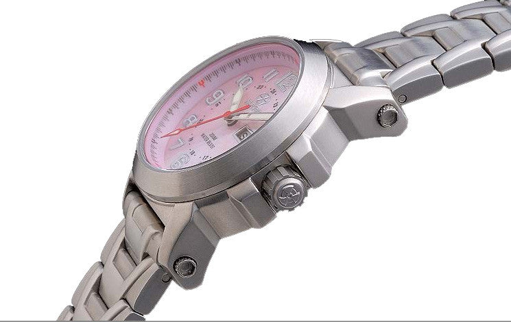Reactor Atom Stainless Steel Ladies' Watch with Never Dark Technology - Jewelry Works