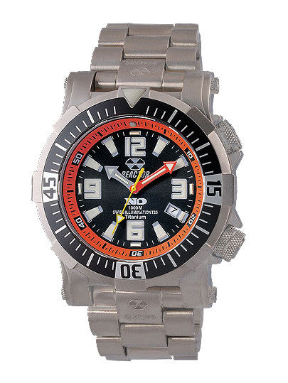 Reactor Men's Poseidon Titanium Dive Watch with Never Dark Technology - Jewelry Works