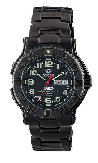 Reactor Men's Trident Titanium Dive Watch with Never Dark Technology - Jewelry Works