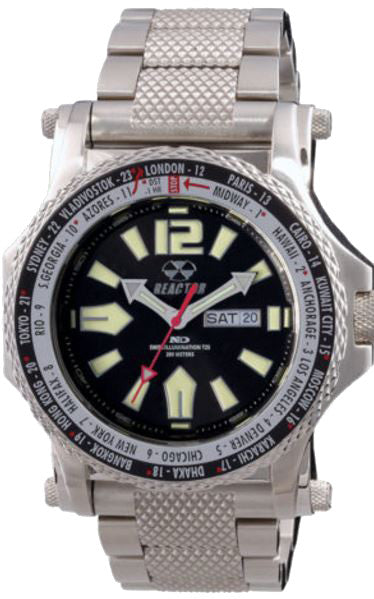 Reactor Men's Proton World Time Chronograph Watch