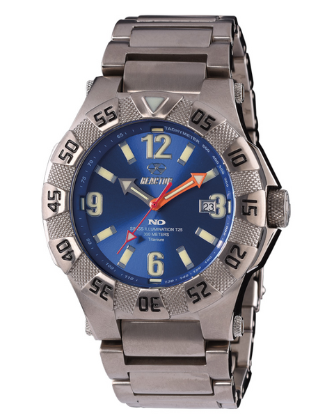Reactor Men's Gamma 2 Titanium Dive Watch with Never Dark Technology - Jewelry Works