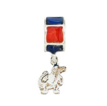 Gator Bead Fighting Albert Orange and Blue - Jewelry Works