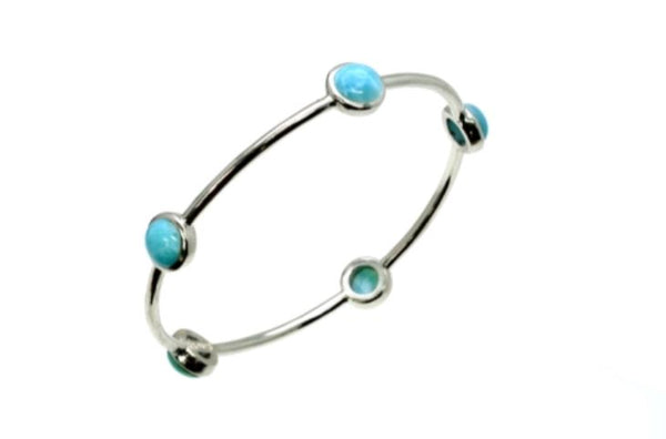 Larimar Five 8mm Bangle 17.6 grams