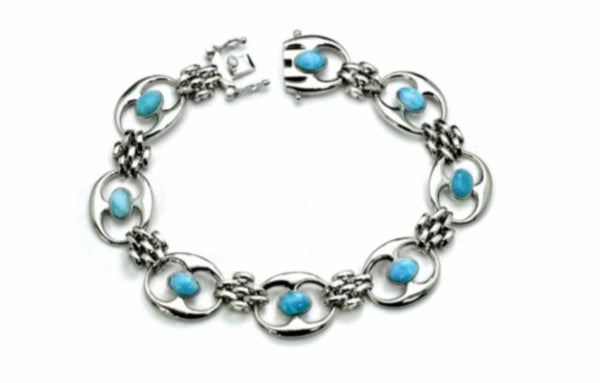 Larimar Eight 6X4mm Oval Romana Bracelet