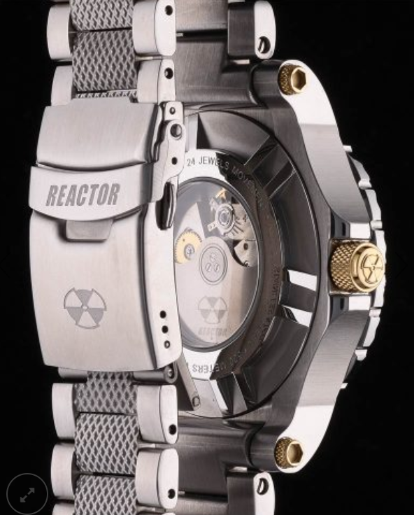Reactor Polaris Stainless Steel Men's Watch with Never Dark Technology