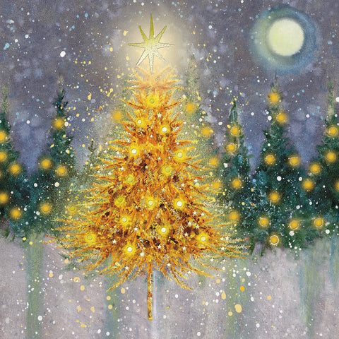 Christmas Cards - 'Moonlight Tree'