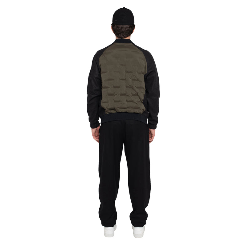 Skin-Nylon Varsity Down Jacket / Military