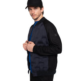 Skin-Nylon Varsity Down Jacket / Blue Navy