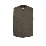 Skin-Nylon V-Neck Down Vest / Military