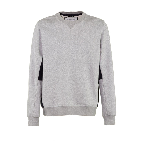 Crew Neck Sweater / Grey Mel