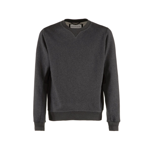 Crew Neck Sweater Dark Grey Mel