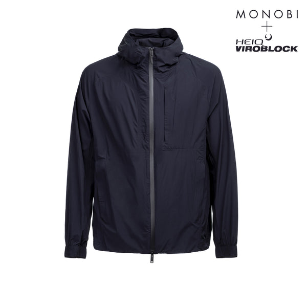 MONOBI + VIROBLOCK / Journey Windbreaker Hoody Blue Navy