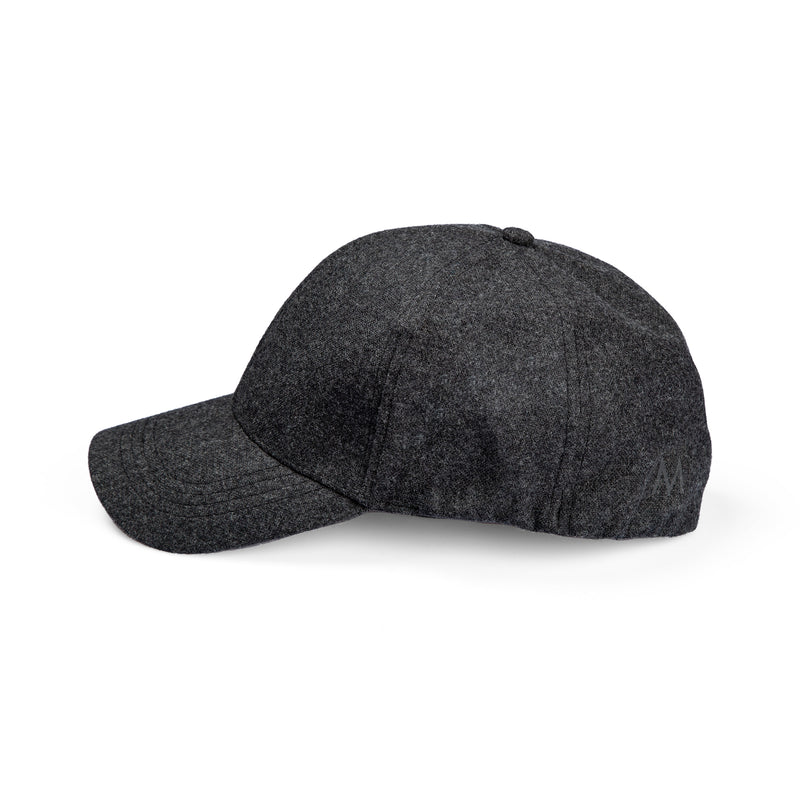 Perfo Cap Wool Dark Grey Mel