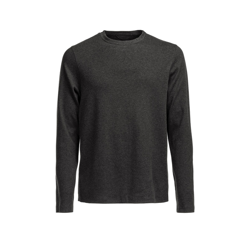 Icecotton Tee Bonded LS / Dark Grey Mel
