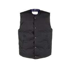 V-Neck Down Vest / Black Raven