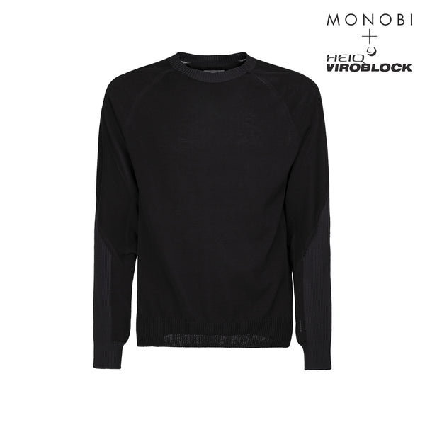 MONOBI + VIROBLOCK / Wholegarment 15 Sweat Black