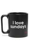 I LOVE SUNDAYS BLACK MUG